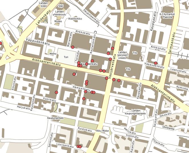 Lahti, Spatialite + WFS